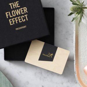 Interflora-presentkort på blommor