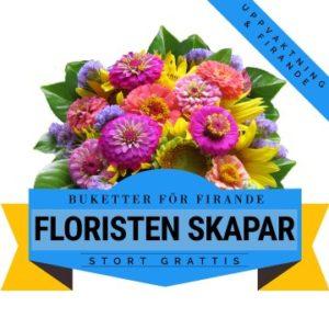 Låt floristen skapa en färgstark, festlig bukett med tillgängliga säsongsblommor! Ett alternativ hos Florister i Sverige