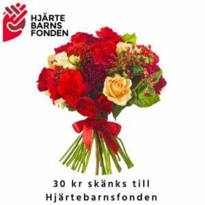 Bukett med blandade blommor i gult, aprikost och gult. Beställ ditt blomsterbud online hos Florister i Sverige!